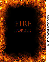 Fire border, abstract fiery background