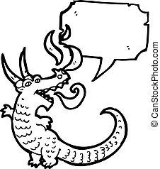fire breathing dragon cartoon