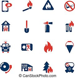 fire brigade icon set - fire brigade web icons for user...
