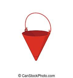 Fire bucket cartoon icon