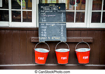 Fire bucket on the wall1