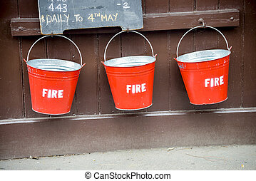 Fire bucket on the wall3