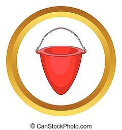 Fire bucket vector icon