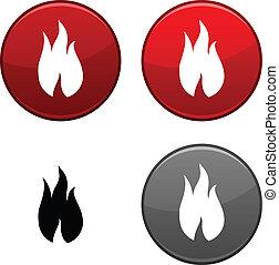 Fire button.
