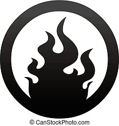 fire button icon template art