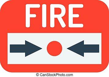 Fire button vector icon.
