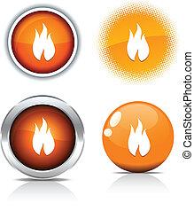Fire buttons.
