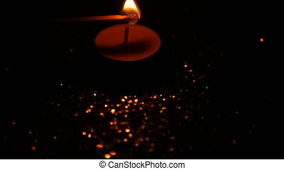 Fire candles against the shine