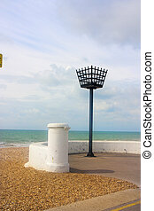 fire cauldron torch at hastings sea front