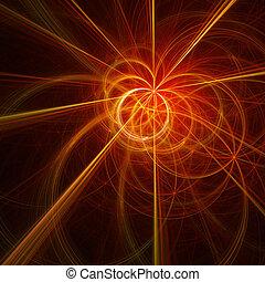 fire circles rays