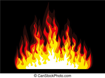 Fire - Vector fire illustration