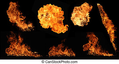 Fire collection - High resolution fire collection isolated...