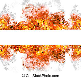 High resolution fire collection isolated on white background