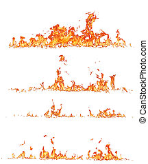 Fire collection - High resolution fire collection, isolated...