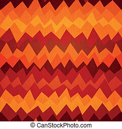 fire colored zigzag seamless pattern