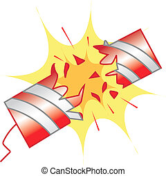 Illustration of fire crackers with light