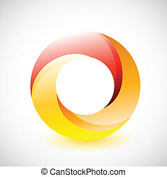fire cycle illustration design