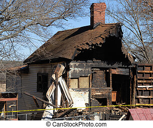 Fire damage of home