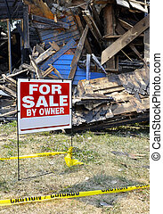 Fire Damaged Home For Sale