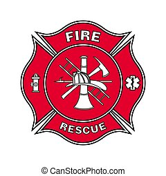 Fire Department Emblem St Florian Maltese Cross