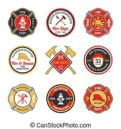Fire department emblems - Fire department rescue and...