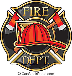 Fire Department or Firefighters Maltese Cross Symbol