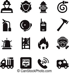 Fire Department icons  Vector Illustration