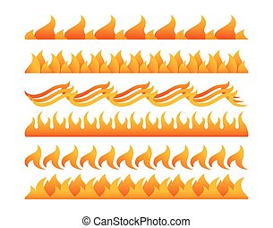 Fire design elements vector set