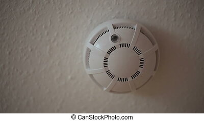 Fire detector on the ceiling