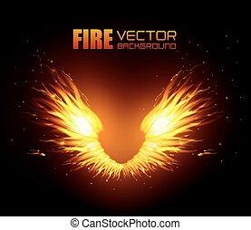 Fire digital design. - Fire digital design, vector ...