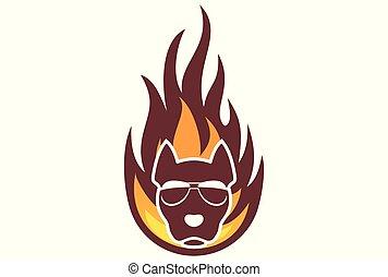 fire dog logo dsign