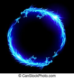 Fire Dragon - Ouroboros Concept Sign, Alchemical Magical ...