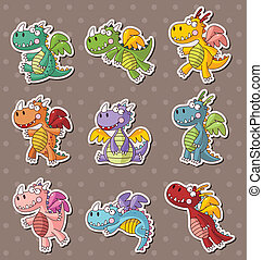 fire dragon stickers