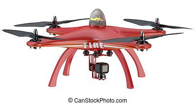 Fire Drone quadrocopter