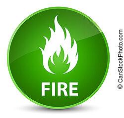 Fire elegant green round button