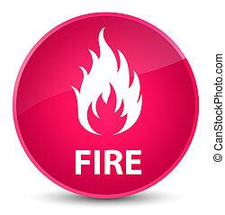 Fire elegant pink round button
