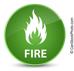 Fire elegant soft green round button