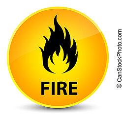 Fire elegant yellow round button