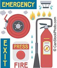 Fire Emergency Elements Illustration
