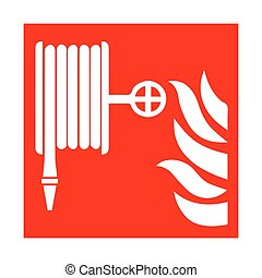 Vector fire emergency icons. Signs of evacuations. Fire hydrant