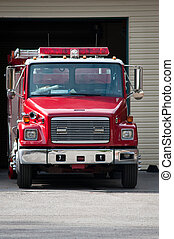 Fire Engine - A fire engine parked and ready to roll
