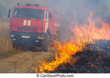 Fire-engine and Flame 4