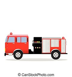 Fire Engine - Vector illustration of a fire engine