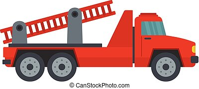 Fire engine icon, flat style