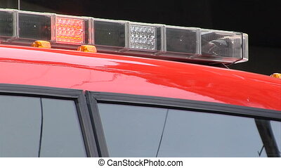 fire engine lights new - This is a close up shot of the...
