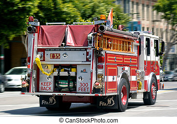 Fire Engine Truck of San Francisco Fire Department (SFFD)