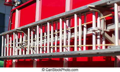 fire escape at car red modern save