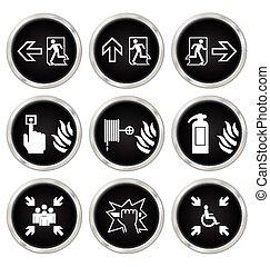 Fire Escape Icons