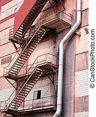 Fire Escape on a Factory Building