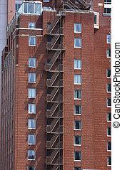 Fire Escape on Old Brick Building